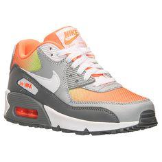 Boys' Grade School Nike Air Max 90 Premium Leather Running Shoes - 724882 800 | Finish Line  braylon