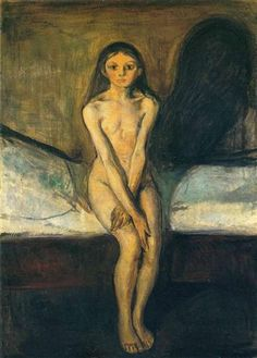 Edvard Munch,  Puberty - 1894 on ArtStack #edvard-munch #art