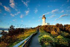 The lighthouse on Clarke's Beach, Byron Bay, NSW, Australia.