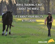 """Horse training is not about fixing the horse. It's about fixing your leadership."" - Linda Parelli"