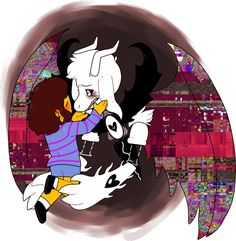 Undertale Asriel and Frisk - WHY DO YOU DO THIS TO ME?! THIS GAME. FUCKKKK. Can Asriel just come back to life please, with his soul, cause yes. I need to hug that cute little goat.