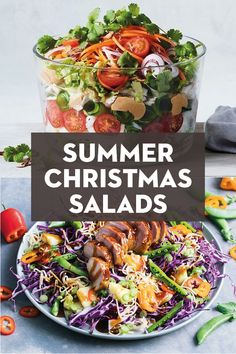 Summer entertaining is ALL about the salads this year. And we're already getting excited about these sensational recipes that'll take us from spring right through Christmas and beyond. Christmas Lunch, Christmas Dishes, Christmas Cooking, Summer Christmas, Lunch Recipes, Dinner Recipes, Lunch Meals, Summer Recipes, Australian Christmas Food