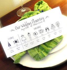 Wedding Timeline Printable Digital File Schedule by pompcreative
