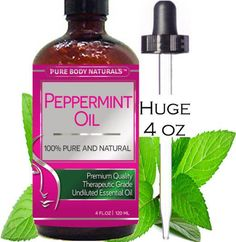 BEST PEPPERMINT OIL ★ LARGE 4 Oz ★ 100% PURE & Natural Essential Oil for Aromatherapy & Many Household Purposes • THERAPEUTIC Grade PREMIUM QUALITY with Health Benefits...More at: https://twitter.com/TheMarketer2015/status/614714686660026368/photo/1