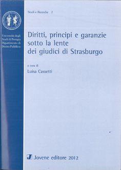 Diritti, principi e garanzie sotto la lente dei giudici di Strasburgo.  Napoli : Jovene, 2012.  D18 452