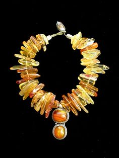 Lithuanian amber jewelry.