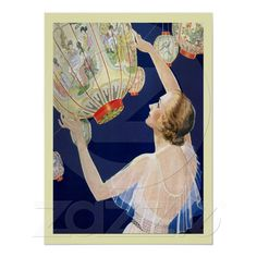 Chinese Lanterns ~ Vintage Art Posters from Zazzle.com