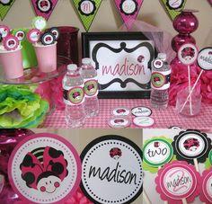 Ladybug personalized party pack $150