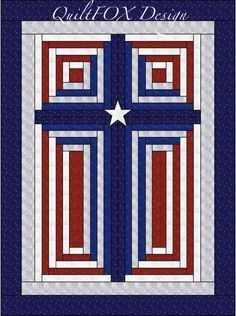 This is the Americana color version of my Log Cabin Christian Cross. I created the pattern for three different sizes so it would look good on smaller or a bigger wall spaces as well. My pattern will guide you through the process of creating the quilt. The pattern gives you:  - the material requirements for three different sizes - cutting and piecing instructions - link to my Animated Log Cabin Tutorial where you can learn about different log cabin blocks - assemble and quilting guidance Open…