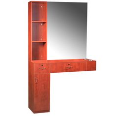 Cherry Pearwood 3 Piece Styling Station WS-31CP