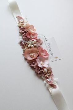Wedding Belts, Wedding Sash, Bridal Sash, Wedding Dresses, Bridal Belts, Dusky Pink Weddings, Blush Bridal, Wedding Hair Accessories, Bridal Headpieces