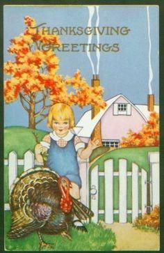 Thanksgiving greetings -vintage