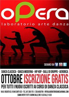 Opera Laboratorio Arte Danza, Advertise October