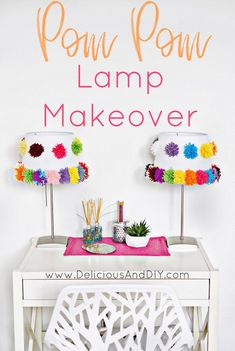 DIY Pom Pom Lamp Sha