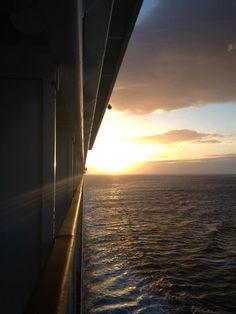 Cruising with a private balcony!  #cruising #balcony #sunset