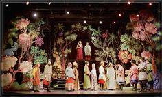 """Stage design for """"As You Like It"""" by Richard Finkelstein"""