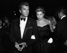 Esther Williams with her third husband, Fernando Lamas in 1960. They starred together in the 1953 film, Dangerous When Wet, in which Williams swam the English Channel. In 1959, when Esther Williams flew to Europe to make a film, Lamas followed and they became steady companions. On December 31, 1969, they were married in America and lived in California.