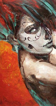 skull girl 2 by *cocoaspen on deviantART