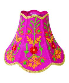 Take a look at this Pink Floral Lamp Shade by Karma Living on #zulily today!