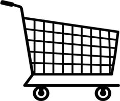 grocery shopping cart clipart clip walmart trolley coloring retail pages super clipartkid