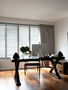 Modern Shutters in London - Contemporary Shutters Shutters With Curtains, Wood Shutters, Window Shutters, Contemporary Shutters, Modern Shutters, Attic Master Suite, Curtain Alternatives, Glass Building, Wood Windows
