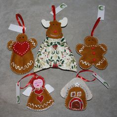 Gingerbread decors filled with lavender from www.masnimesi.net