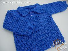 Blusa de Crochê Bebê Anjinho                              …