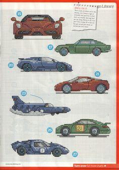 cars, cross stitch, intarsia knitting pattern :) 4