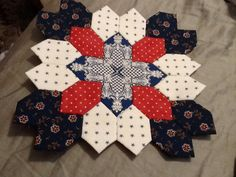 Lucy Boston Patchwork of the Crosses #9 by Diana Baber (from Featherweight Quilts - Etsy)