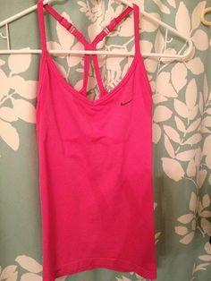 Nike Women's Pink Bratop Tank Top Medium
