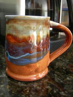 pottery by Sarah Brown on Etsy Glaze, Pottery, Mugs, Brown, Tableware, Etsy, Enamel, Ceramica, Dinnerware