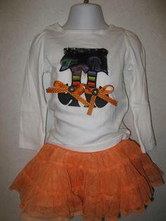 Halloween Wicked Cute Witch Feet Tutu Shirt, via Etsy.