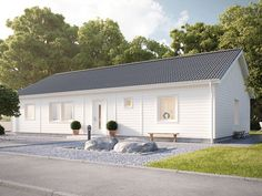 Smart 126 - LevelOne i ett plan från Myresjöhus Tiny House Cabin, Cottage Homes, Home Fashion, Facade, Sweet Home, New Homes, Florida, House Design, How To Plan