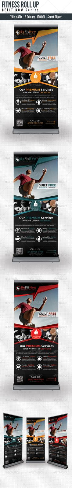 Buy Fitness Roll UP Banner by totopc on GraphicRiver. 1 Set of Roll up Fitness banners template your minimal info weight training needs. Pull Up Banner Design, Roll Up Design, Pop Up Banner, Banner Template, Flyer Template, Digital Signage Displays, Banner Design Inspiration, Up Fitness, Creative Hub