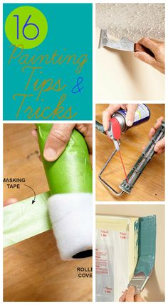 New painting tips and tricks - paint fast - and clean!  Lots of tips I hadn't heard/read before!  Via FamilyHandyman.com