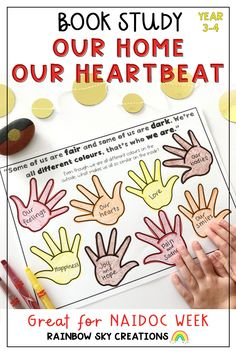 Included is a set of learning activities to support the book, 'Our Home, Our Heartbeat' by Australian Rapper Adam Briggs (known as Senator Briggs). This resource is ideal to support units of work about our First Peoples, Australia, NAIDOC Week or simply as a book study. It has been created to shine a light on and celebrate Indigenous Australians. Learning Activities, Teaching Resources, Teaching Ideas, Primary Classroom, Primary School, Adam Briggs, Naidoc Week, Rainbow Sky, Australian Curriculum