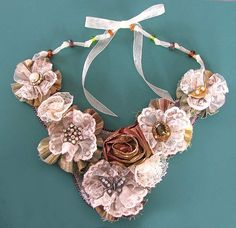16 Beautiful DIY Ideas About Fabric Necklace - Some really beautiful pieces here and so easy for a spectacular accessory