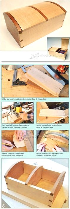 Jewellery Casket Plans - Woodworking Plans and Projects | WoodArchivist.com #woodworkingplans #WoodworkPlans
