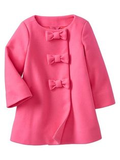 Wool Pink Bow Coat: