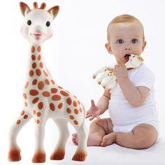 [Vulli ヴュリ]キリンのソフィーコレクション キリンのソフィー 赤ちゃんの手にちょうど良い18センチでとても軽く、押すと「キューキュー」という音が鳴る仕掛け付き。