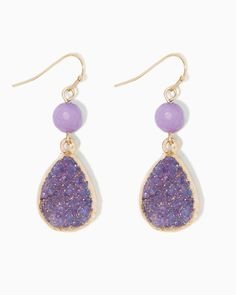 charming charlie | Druzy Drop Earrings #charmingcharlie