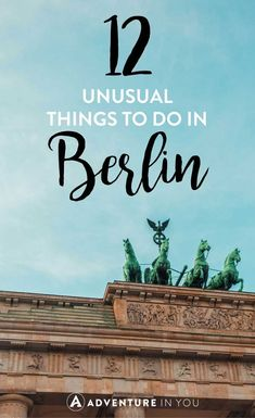 Heading to Germany? Check out my personal recommendations on the top things to do in Berlin that aren't part of your average tour to add to your itinerary. Voyage Europe, Europe Travel Guide, Europe Destinations, Travel Guides, Travelling Europe, Visit Germany, Berlin Germany, Berlin Berlin, Berlin Wall