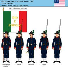 Le 39th régiment de volontaires de New-York, Garibaldi Guards