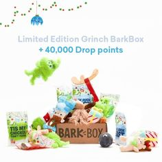 """Drop on Instagram: """"The Limited Edition Grinch BarkBox has arrived! Make your dog's heart grow three sizes with a monthly delivery of toys, treats, and chews…"""" Grinch, Place Card Holders, Delivery, Hacks, Treats, Drop, Make It Yourself, Money, Toys"""