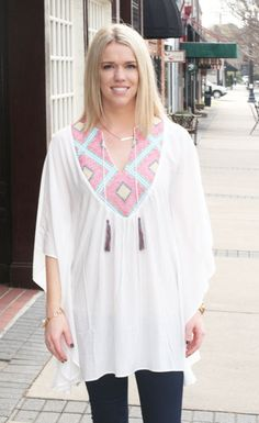 Rosemary Kimono $89.00  The perfect Kimono to throw over a swimsuit or dress it up at night!