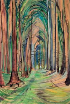Emily Carr 1937 Group of Seven Tom Thomson, Canadian Painters, Canadian Artists, Emily Carr Paintings, Famous Art Paintings, Oil Paintings, Landscape Art, Landscape Paintings, Inspiration Art