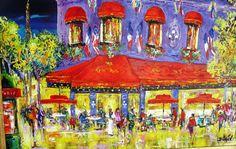 Paris Rotunde Night, Painting, Duaiv