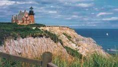 The Southeast Lighthouse atop the Mohegan Bluffs on Block Island, RI