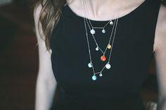 Layered Solar System Galaxy Necklace  Elegant by jerseymaids, $150.00