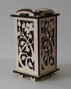 Laser Cut Wood Luminarie Tealight Lamp  Cherry by ellenstarr, $39.00